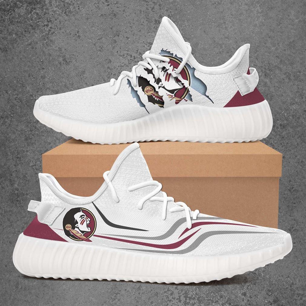 Florida State Seminoles Ncaa Sport Teams Yeezy Sneakers Shoes White