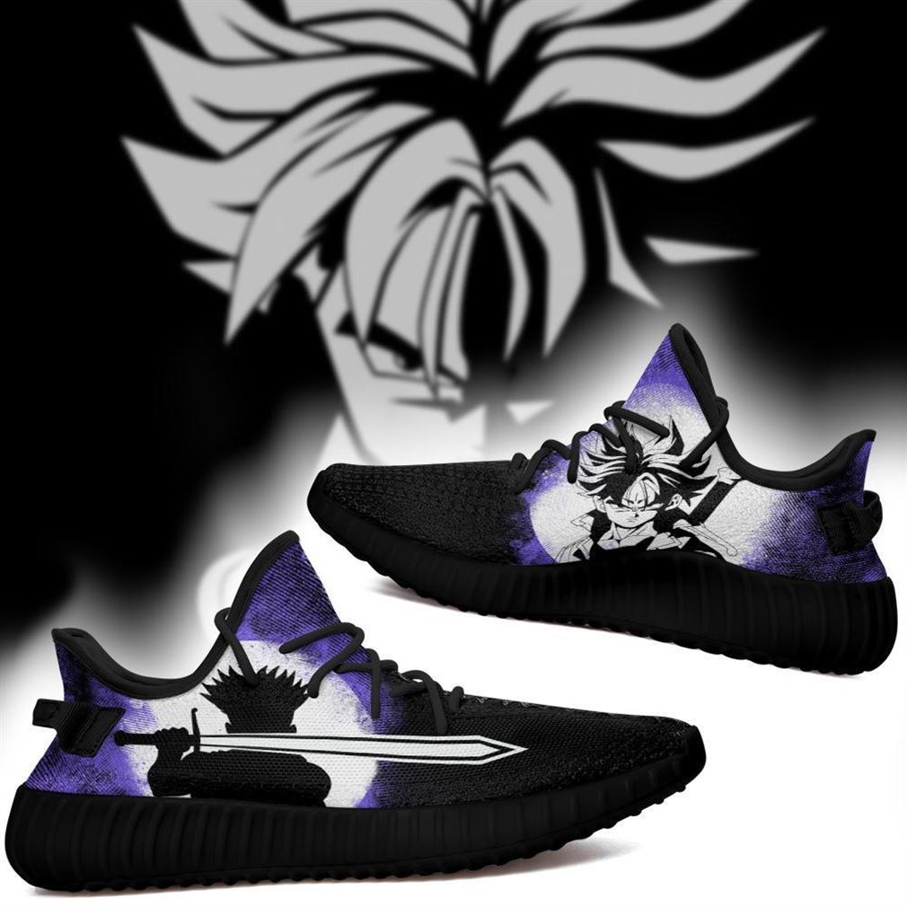 Future Trunks Silhouette Yz Sneakers Skill Custom Dragon Ball Z Shoes Anime Yeezy Sneakers Shoes Black