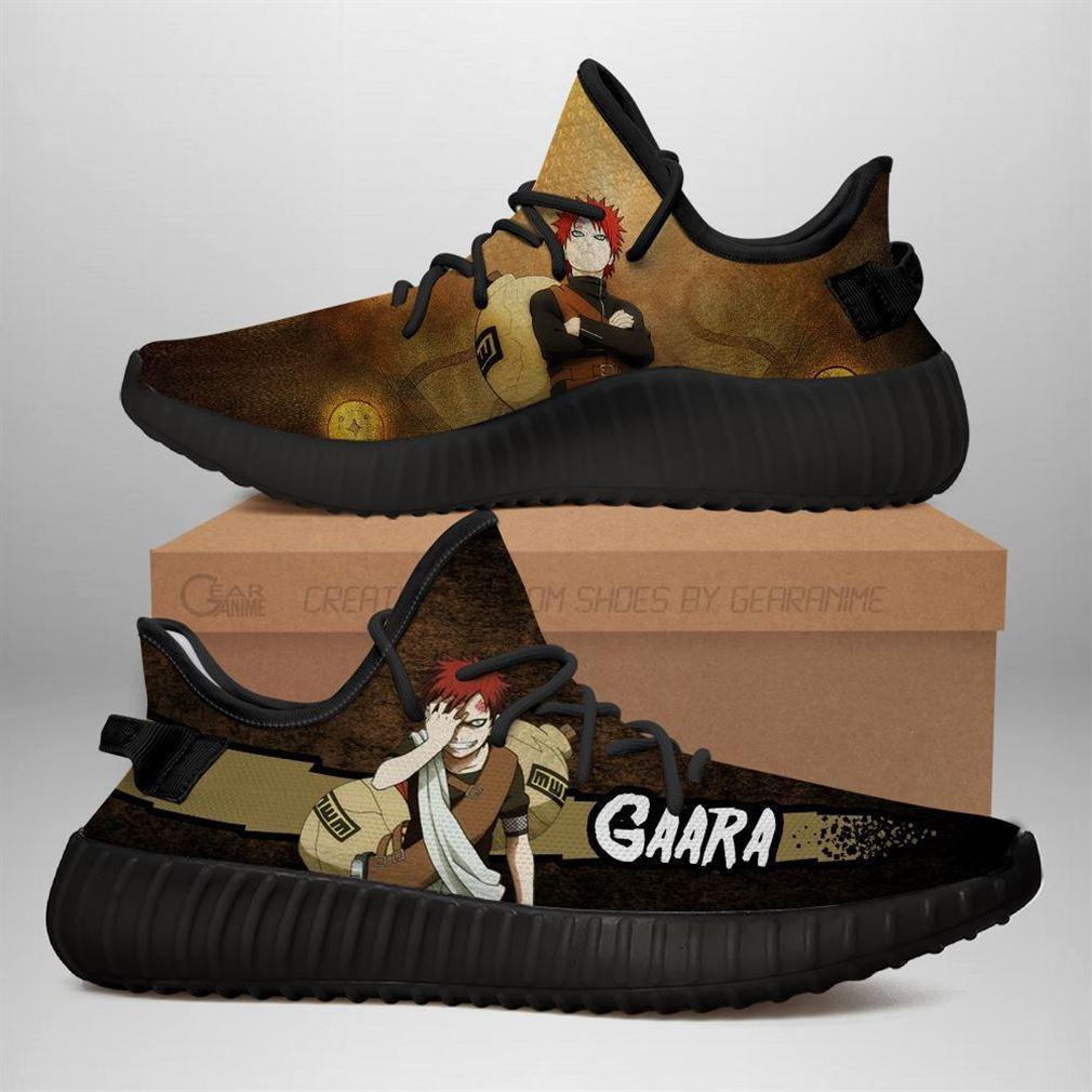 Gaara Yz Sneakers Naruto Shoes Anime Yeezy Sneakers Shoes Black