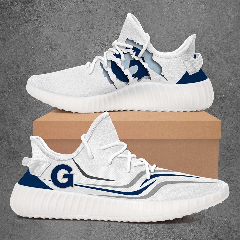 Georgetown Hoyas Ncaa Sport Teams Yeezy Sneakers Shoes White