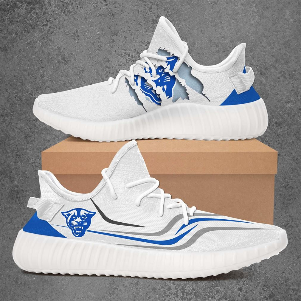 Georgia State Panthers Ncaa Sport Teams Yeezy Sneakers Shoes White