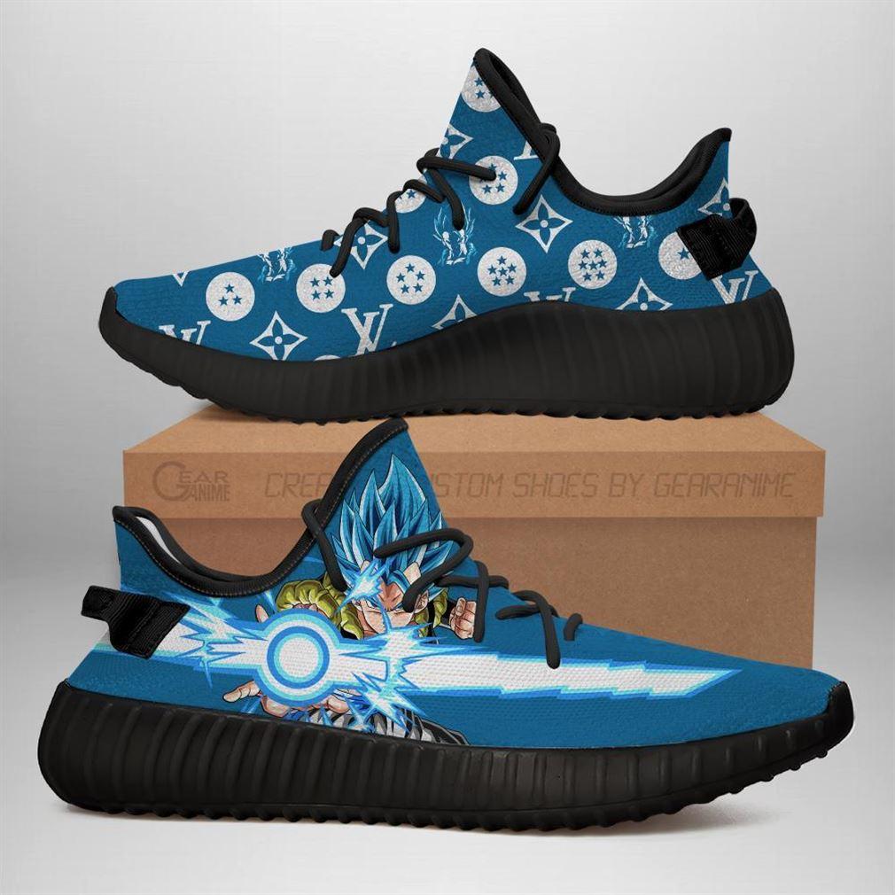 Gogeta Dragon Ball Yeezy Sneakers Shoes Black