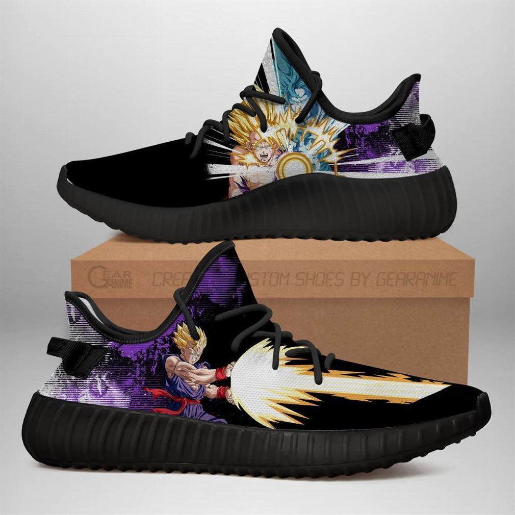 Gohan Skill Yz Sneakers Dragon Ball Z Shoes Anime Yeezy Sneakers Shoes Black