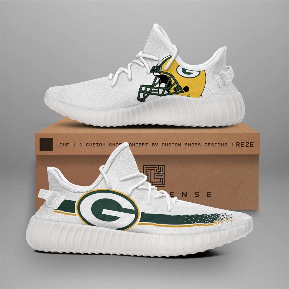 Green Bay Packers Nfl Teams Runing Yeezy Sneakers Shoes
