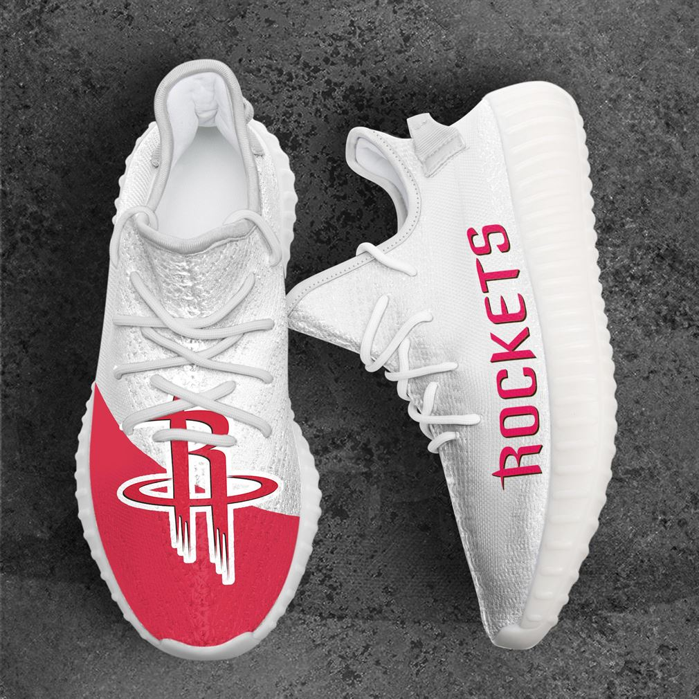 Houston Rockets Mlb Sport Teams Yeezy Sneakers Shoes White