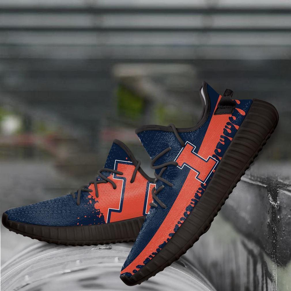 Illinois Fighting Illini Ncaa Yeezy Sneakers Shoes