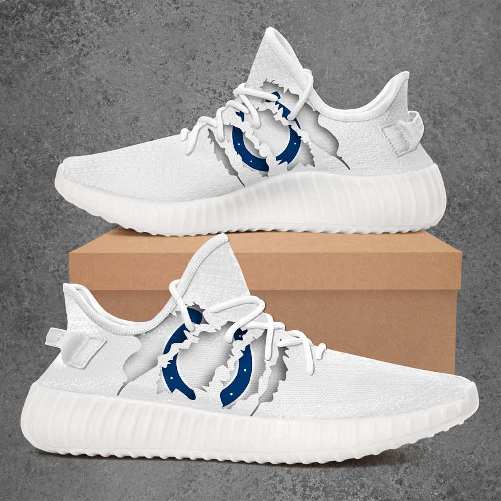 Indianapolis Colts Nfl Sport Teams Yeezy Sneakers Shoes White