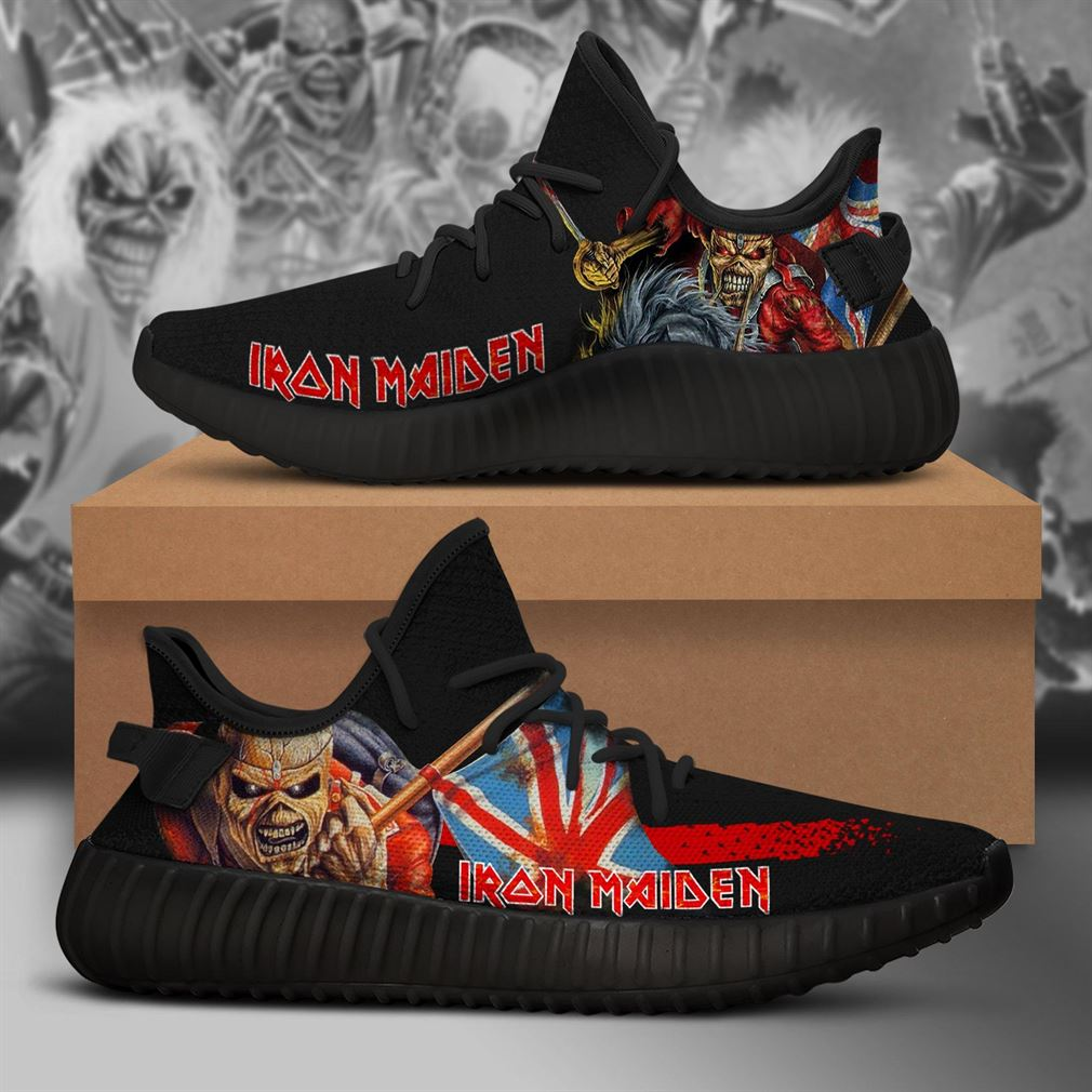 Iron Maiden Band Yeezy Sneakers Shoes