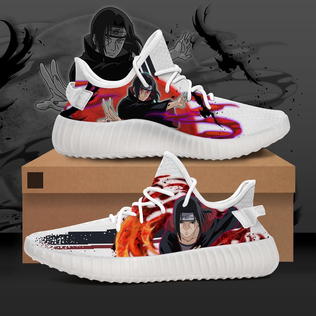 Itachi Character Naruto Anime Yeezy Sneakers Shoes