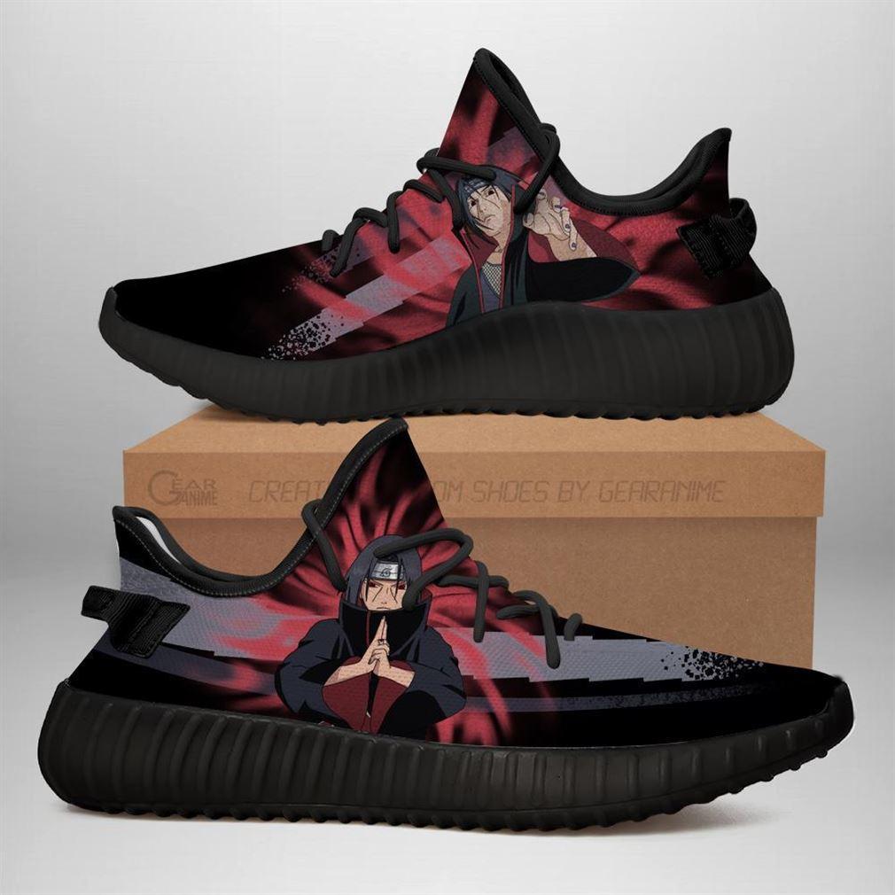 Itachi Jutsu Yz Sneakers Naruto Anime Shoes Yeezy Sneakers Shoes Black