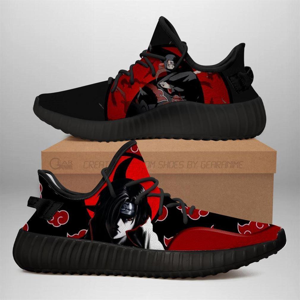 Itachi Yz Sneakers Akatsuki Clan Naruto Shoes Anime Yeezy Sneakers Shoes Black