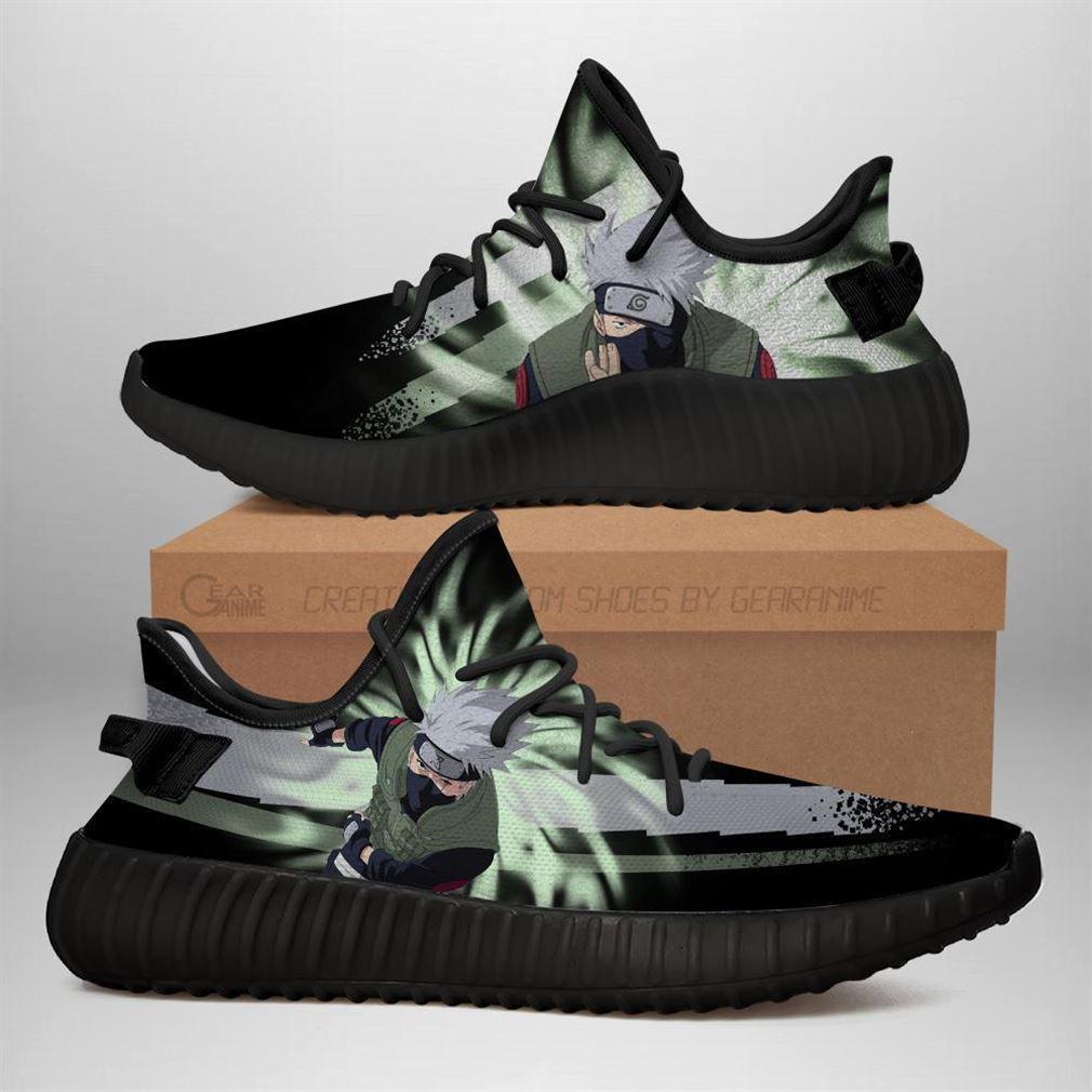 Kakashi Jutsu Yz Sneakers Naruto Anime Shoes Yeezy Sneakers Shoes Black