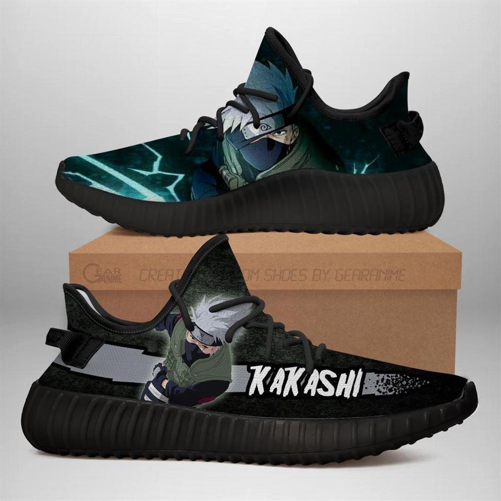 Kakashi Yz Sneakers Naruto Shoes Anime Yeezy Sneakers Shoes Black