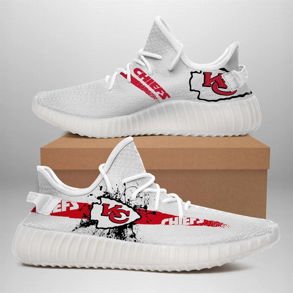 Kansas City Chiefs Nfl Sport Teams Runing Yeezy Sneakers Shoes