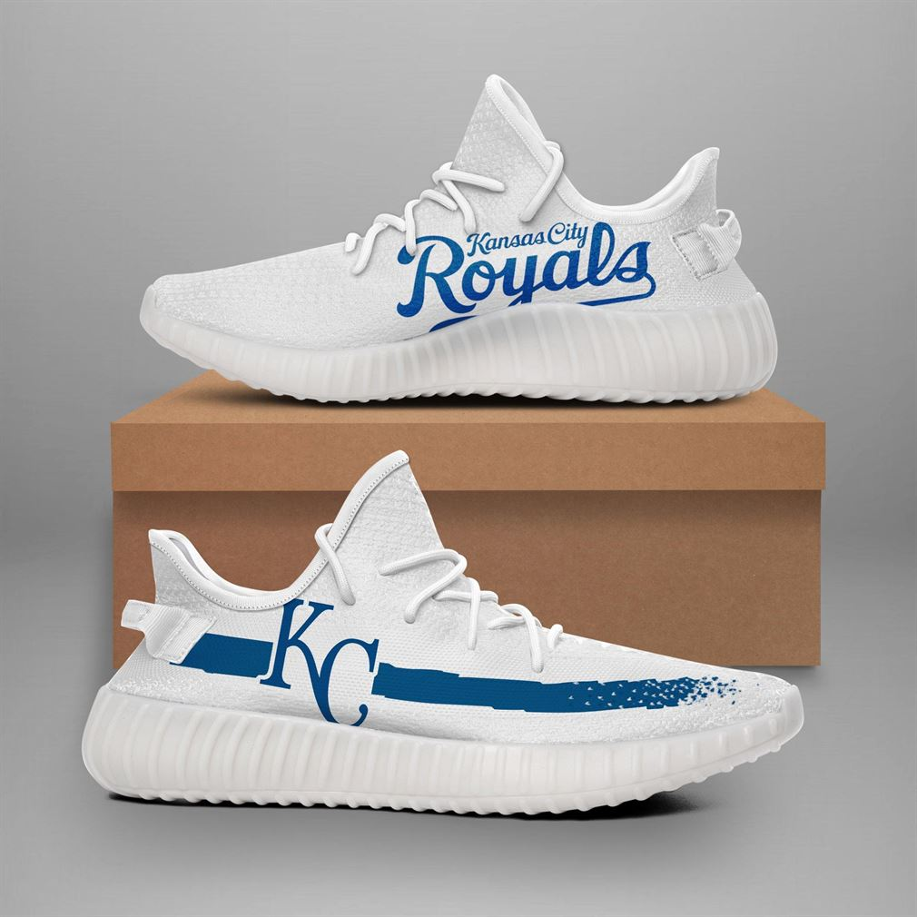 Kansas City Royals Mlb Teams Yeezy Sneakers Shoes White