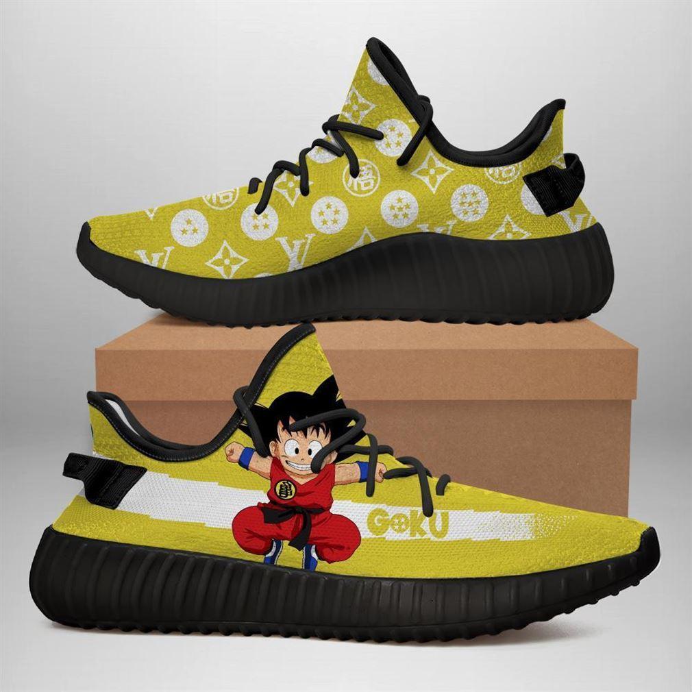 Kid Goku Yz Sneakers Dragon Ball Shoes Anime Yeezy Sneakers Shoes Black