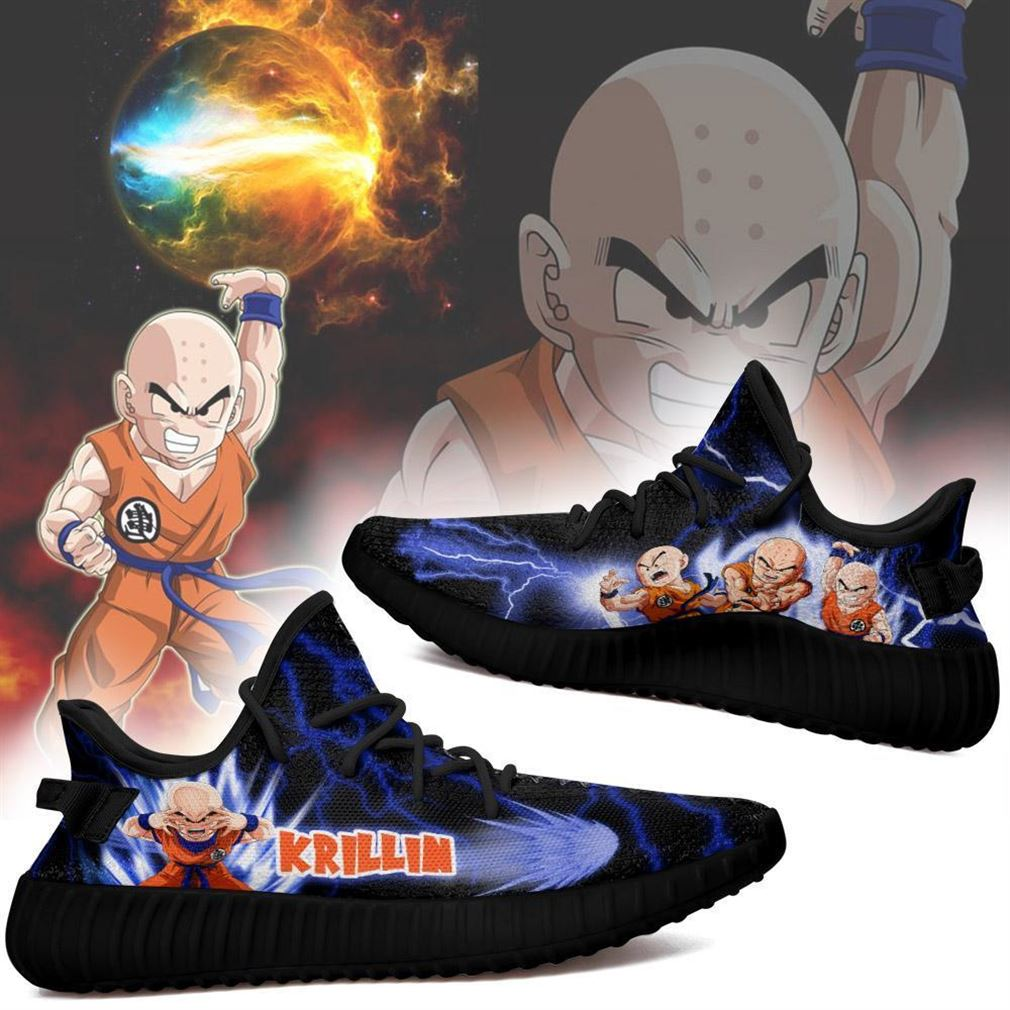 Krillin Yz Sneakers Dragon Ball Z Shoes Anime Yeezy Sneakers Shoes Black