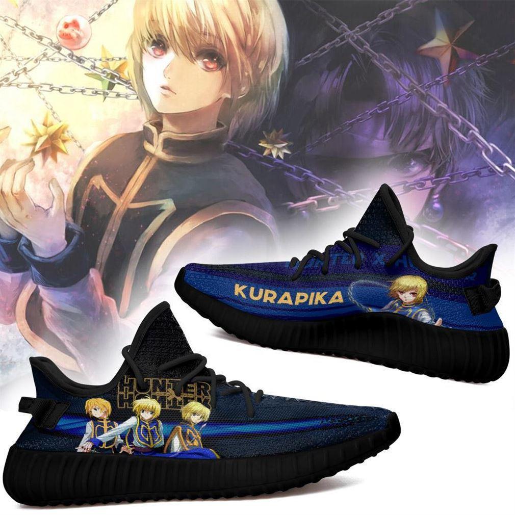 Kurapika Yz Sneakers Custom Hunter X Hunter Shoes Anime Yeezy Sneakers Shoes Black