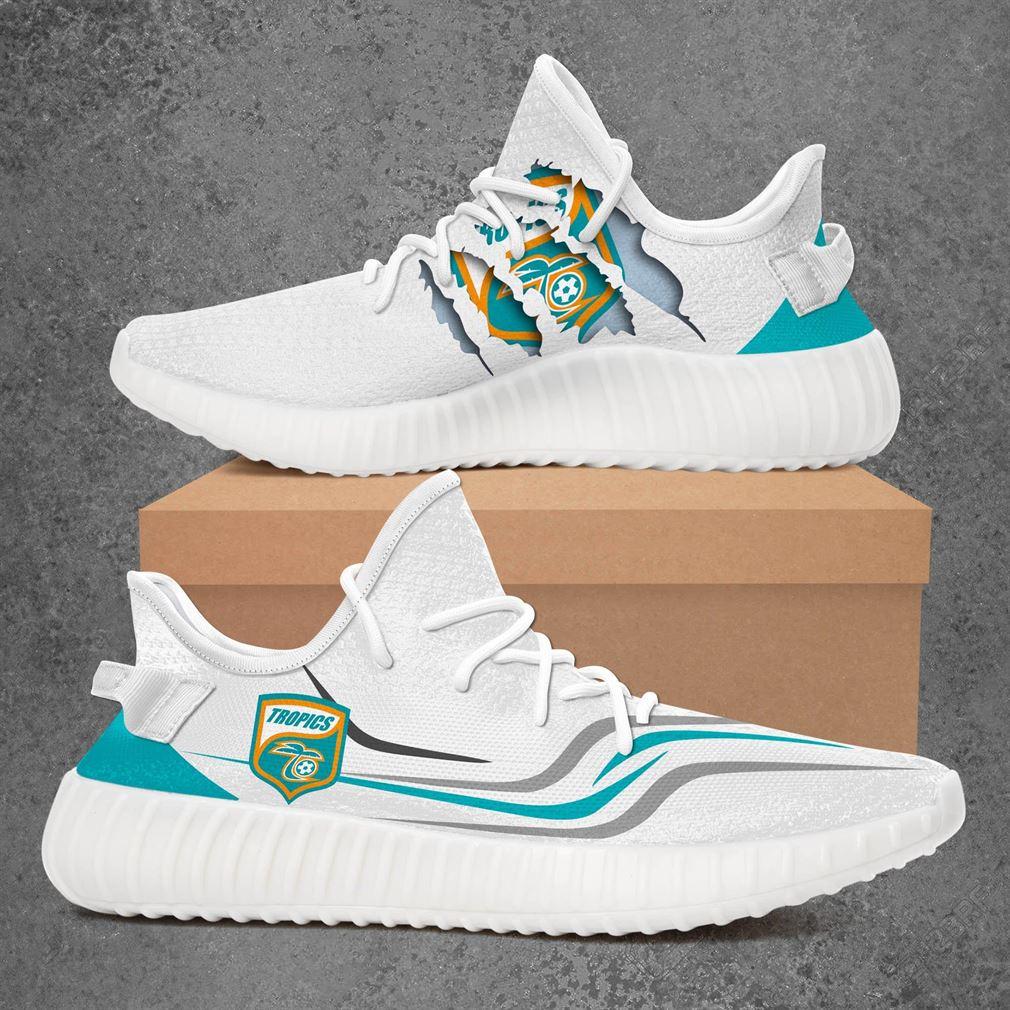 Lakeland Tropics Us Open Cup Sport Teams Yeezy Sneakers Shoes White