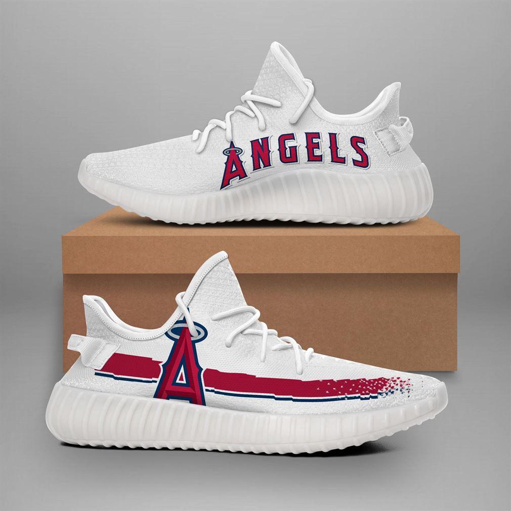 Los Angeles Angels Mlb Teams Runing Yeezy Sneakers Shoes