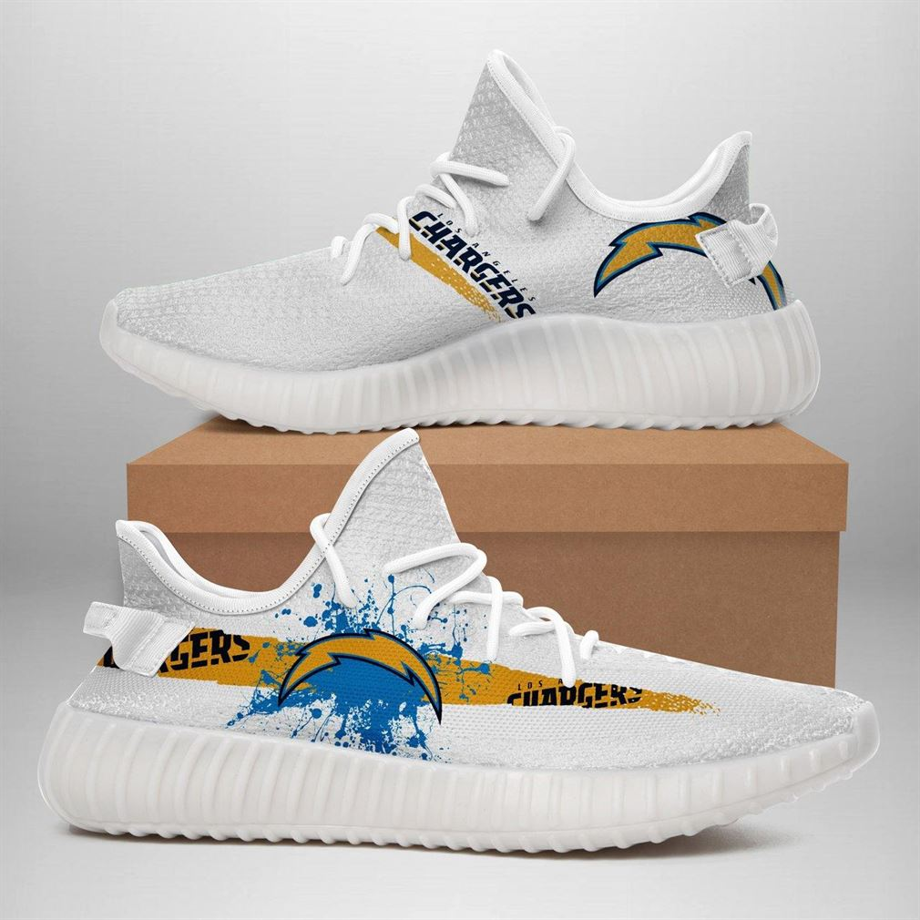 Los Angeles Chargers Nfl Sport Teams Runing Yeezy Sneakers Shoes