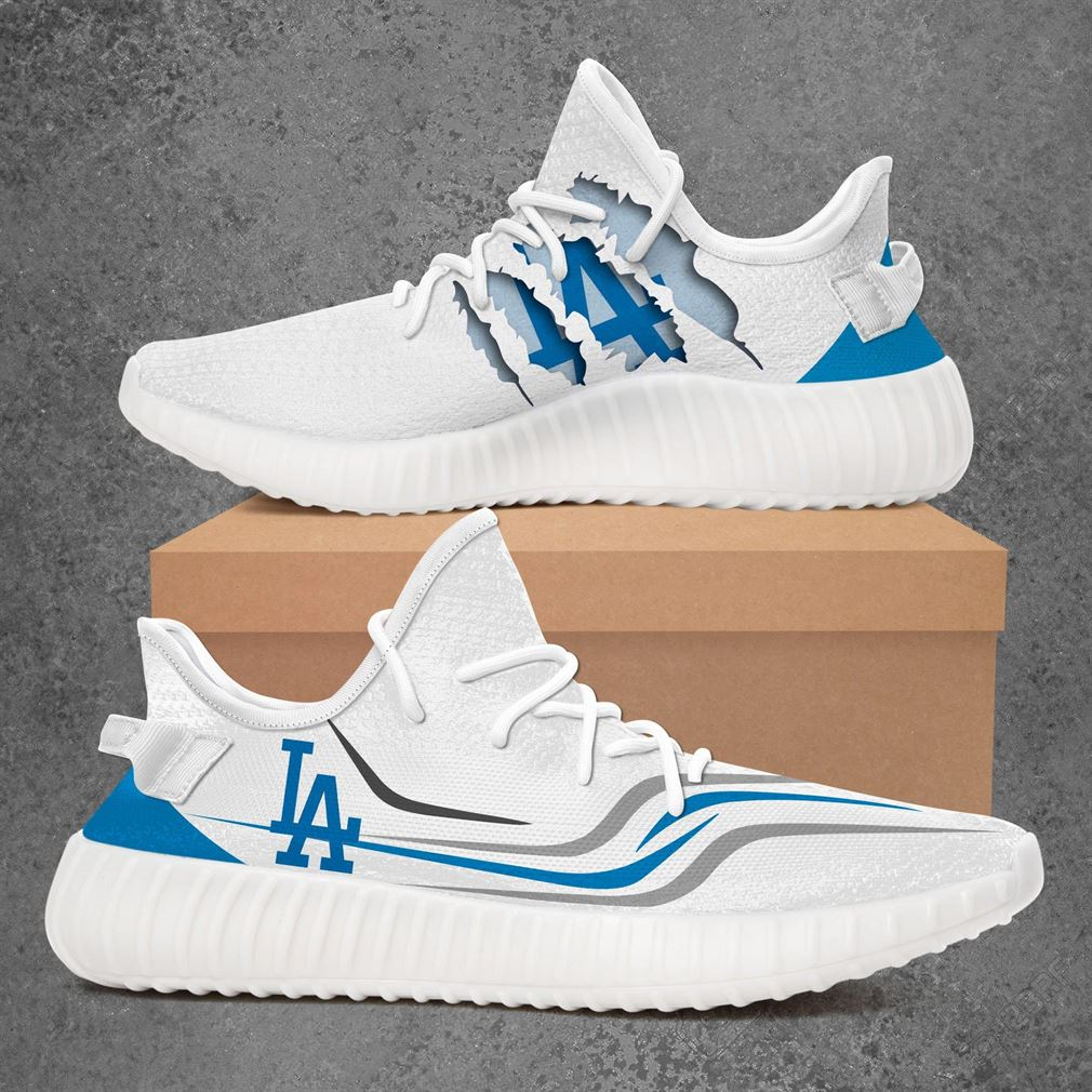 Los Angeles Dodgers Mlb Sport Teams Yeezy Sneakers Shoes White