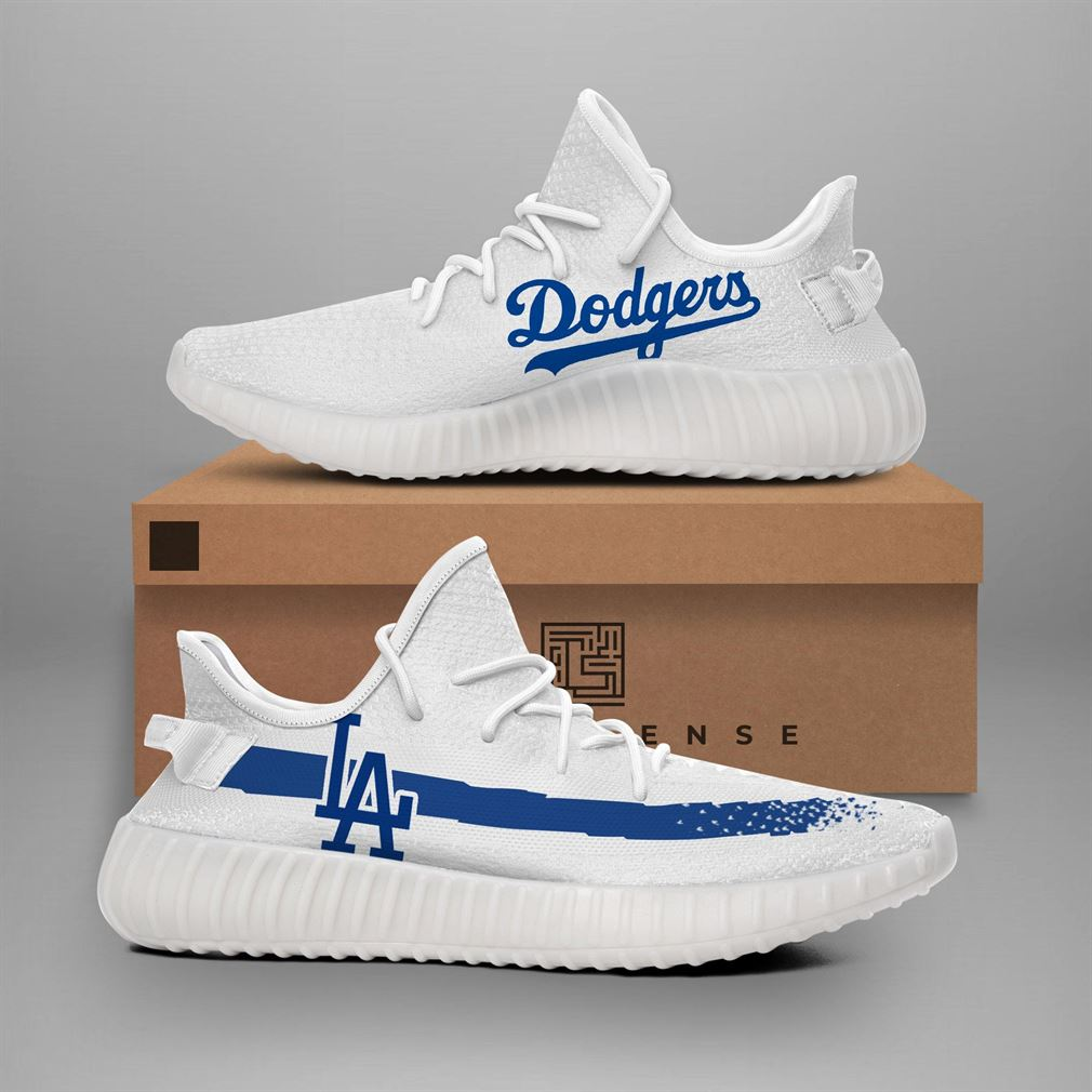 Los Angeles Dodgers Mlb Teams Runing Yeezy Sneakers Shoes
