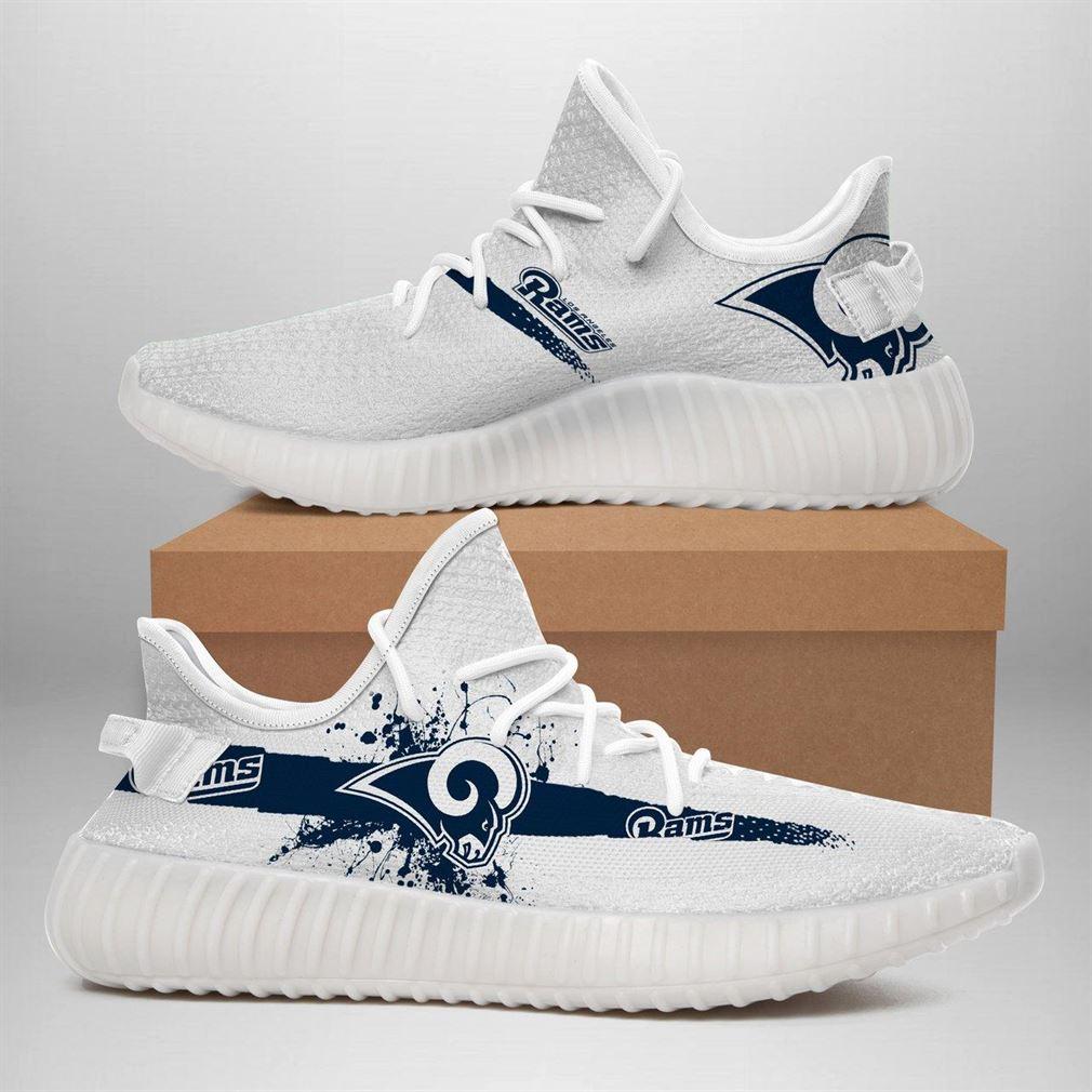 Los Angeles Rams Nfl Sport Teams Runing Yeezy Sneakers Shoes