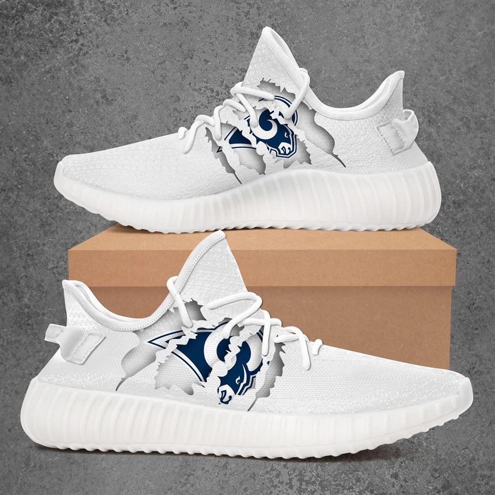 Los Angeles Rams Nfl Sport Teams Yeezy Sneakers Shoes White