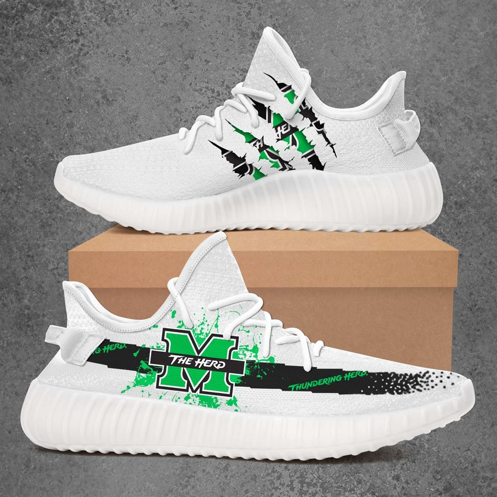 Marshall Thundering Herd Ncaa Sport Teams Yeezy Sneakers Shoes