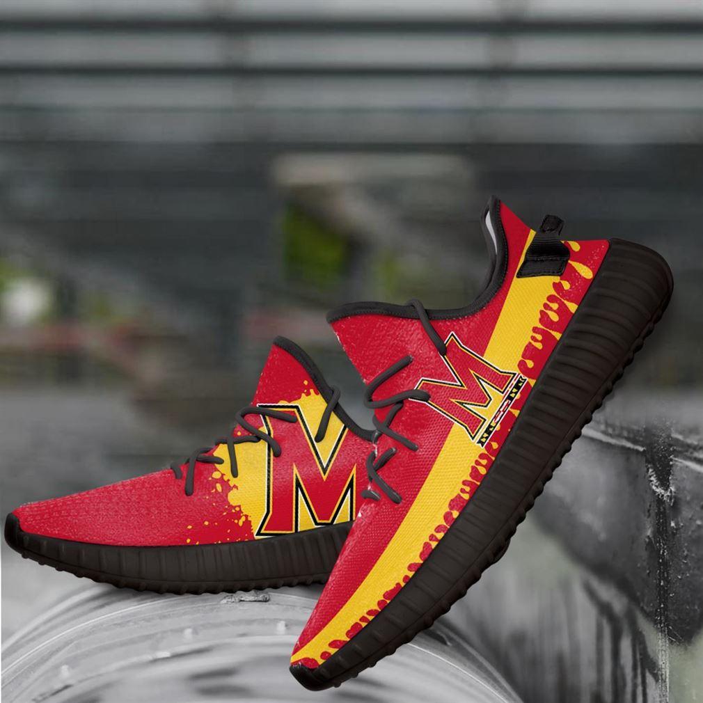 Maryland Terrapins Ncaa Yeezy Sneakers Shoes