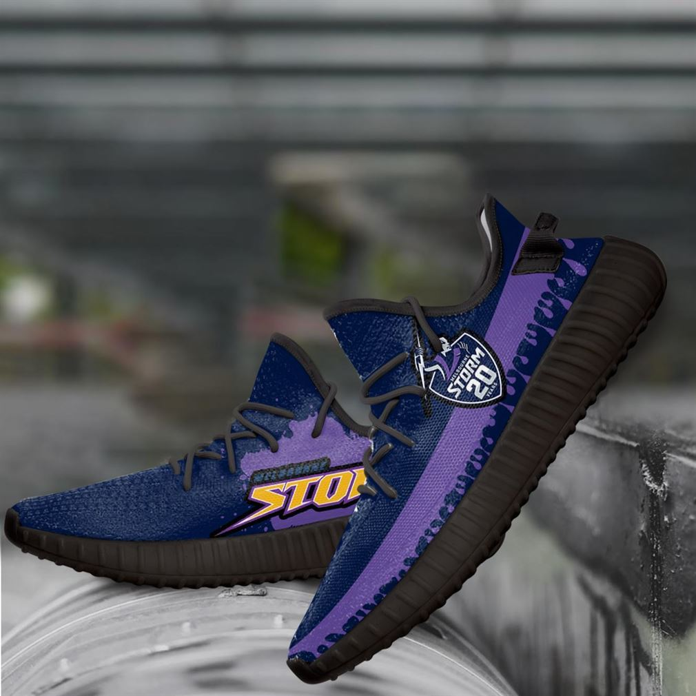 Melbourne Storm Nrl Yeezy Sneakers Shoes