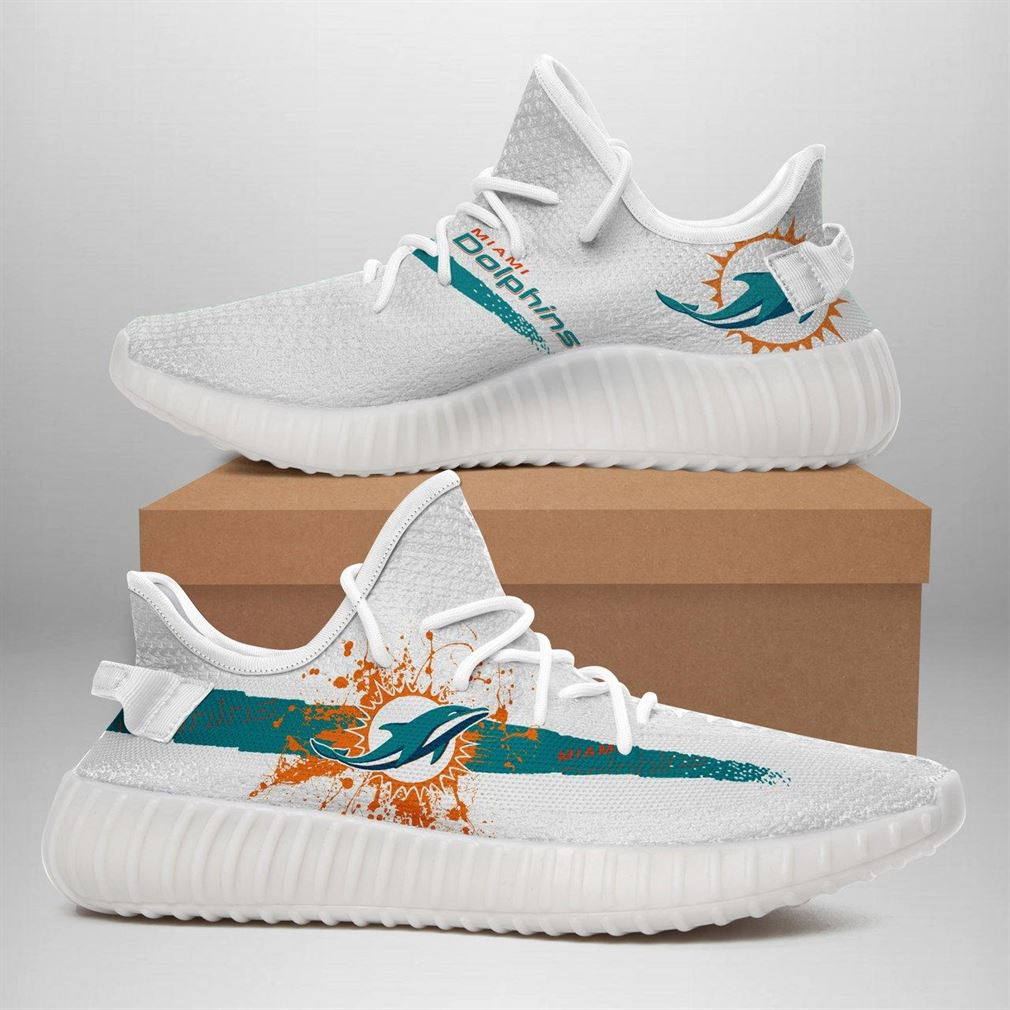 Miami Dolphins Nfl Sport Teams Runing Yeezy Sneakers Shoes