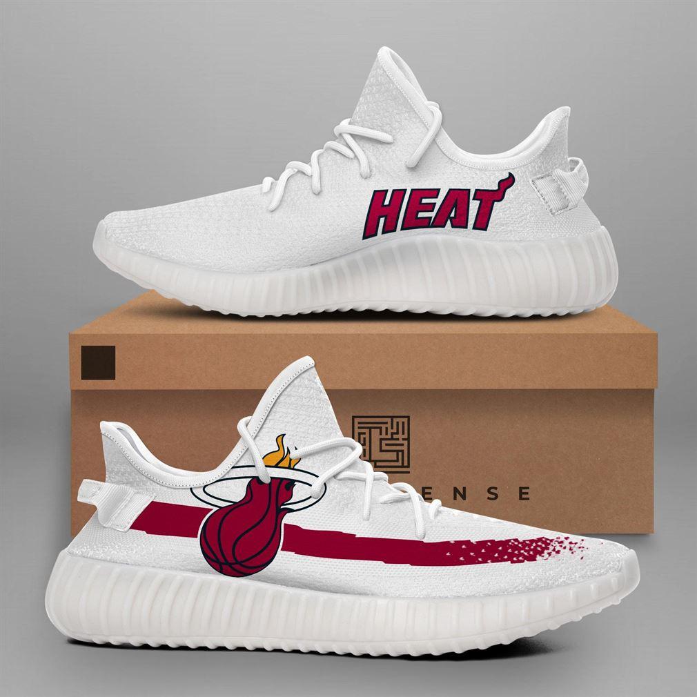 Miami Heat Nba Teams Runing Yeezy Sneakers Shoes