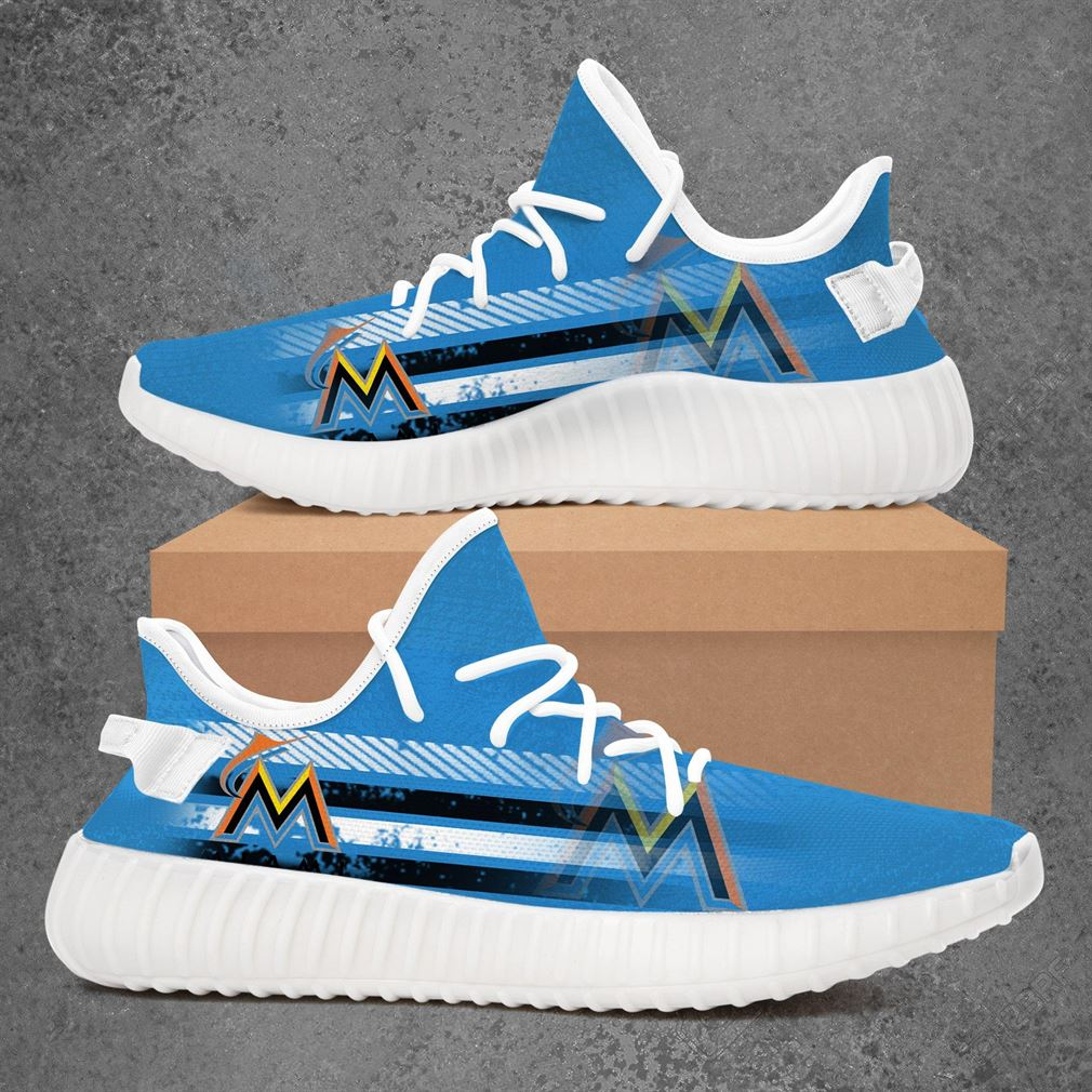 Miami Marlins Mlb Baseball Yeezy Sneakers Shoes
