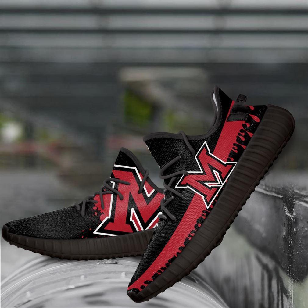 Miami Redhawks Ncaa Yeezy Sneakers Shoes