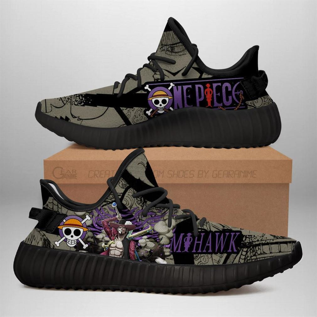 Mihawk Yz Sneakers One Piece Anime Shoes Yeezy Sneakers Shoes Black