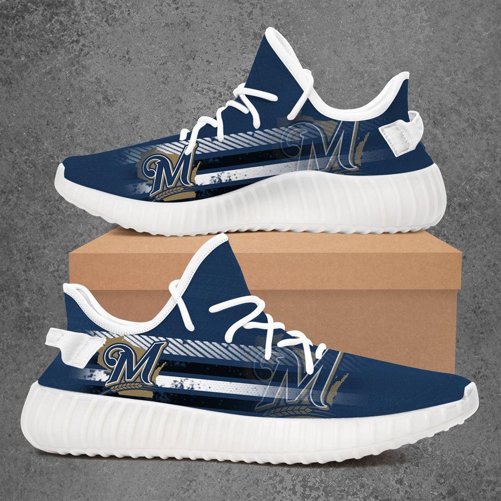 Milwaukee Brewers Mlb Baseball Yeezy Sneakers Shoes