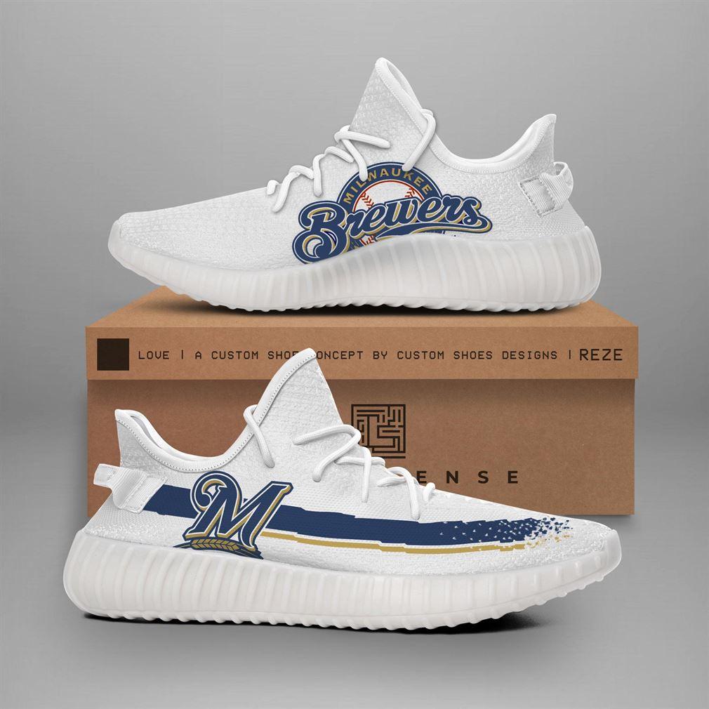 Milwaukee Brewers Mlb Teams Runing Yeezy Sneakers Shoes
