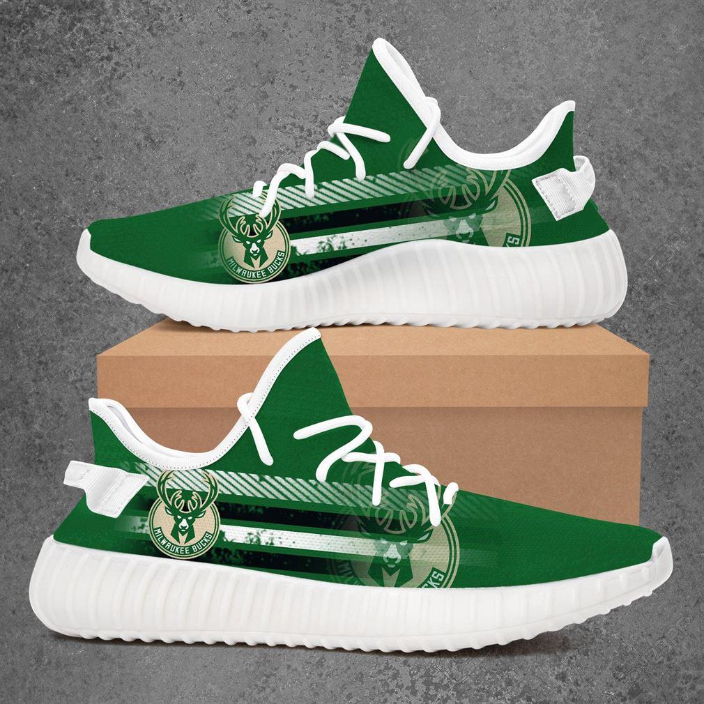 Milwaukee Bucks Nba Basketball Yeezy Sneakers Shoes