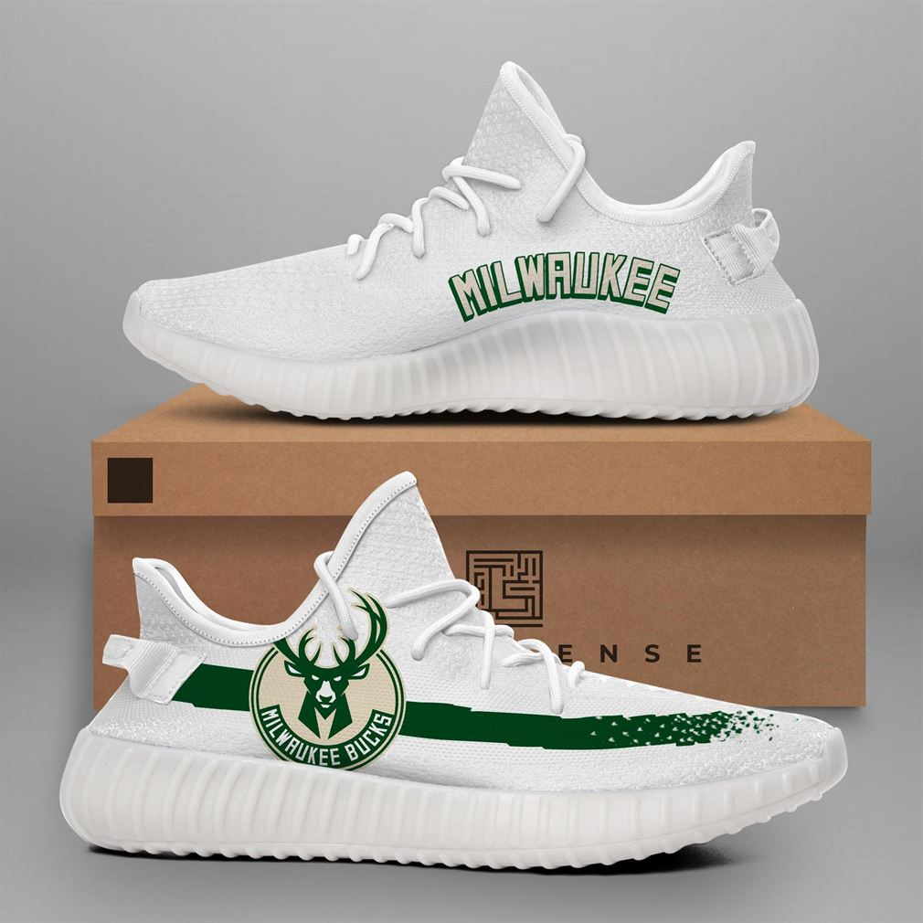 Milwaukee Bucks Nba Teams Runing Yeezy Sneakers Shoes