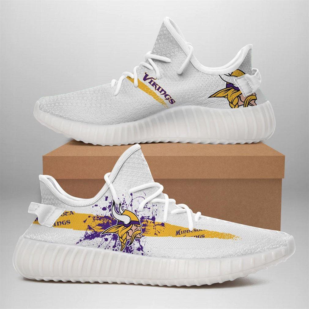 Minnesota Vikings Nfl Sport Teams Runing Yeezy Sneakers Shoes