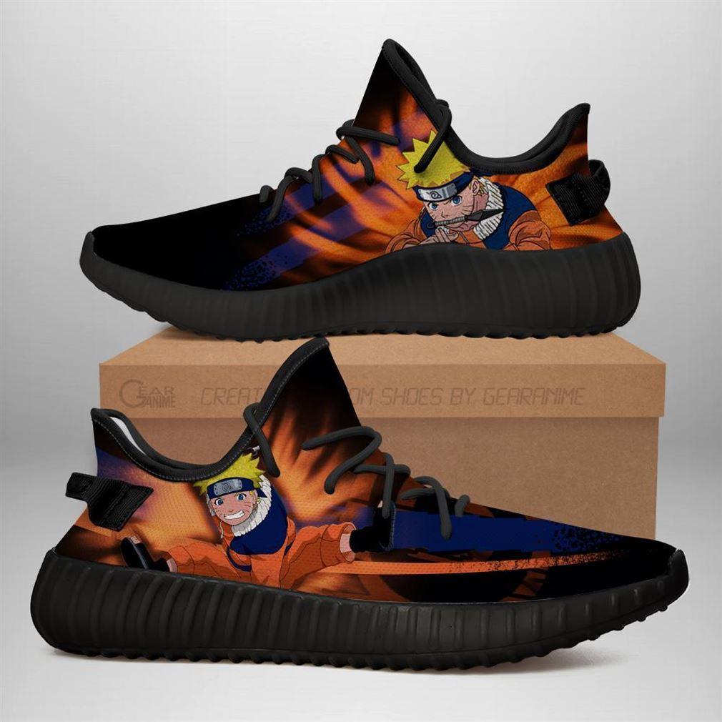 Naruto Jutsu Yz Sneakers Naruto Anime Shoes Yeezy Sneakers Shoes Black