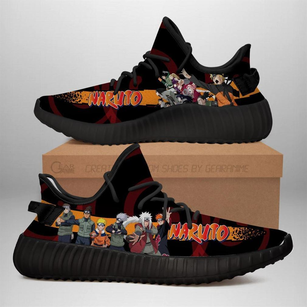 Naruto Yeezy Sneakers Shoes Black