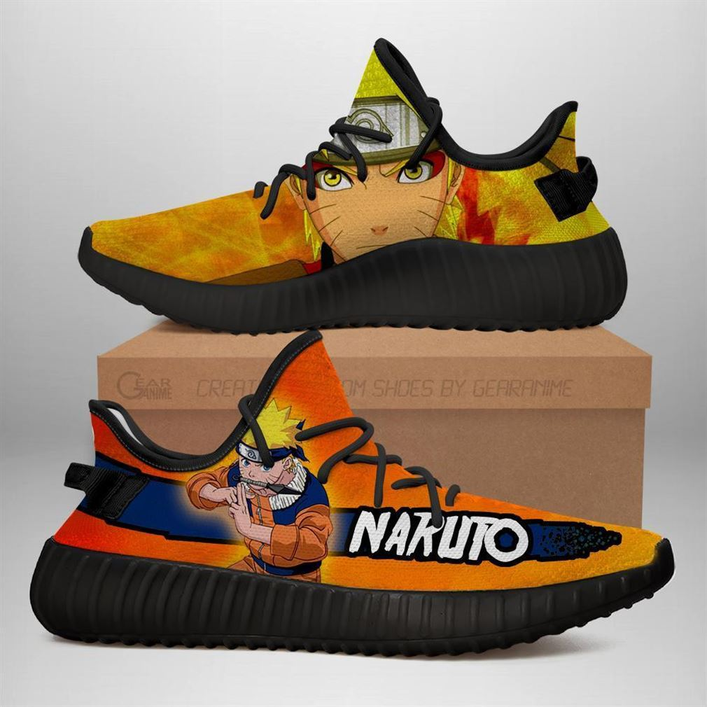 Naruto Yz Sneakers Naruto Shoes Anime Yeezy Sneakers Shoes Black