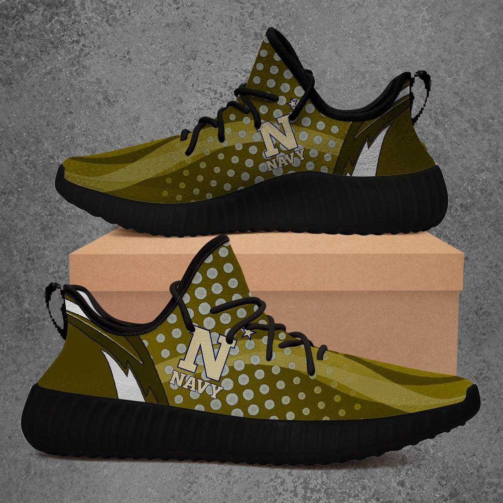 Navy Midshipmen Ncaa Sport Teams Yeezy Sneakers Shoes