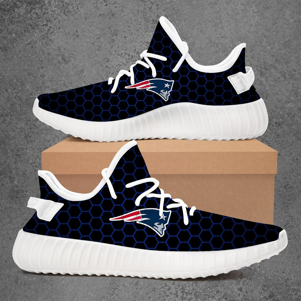 New England Patriots Nfl Football Yeezy Sneakers Shoes