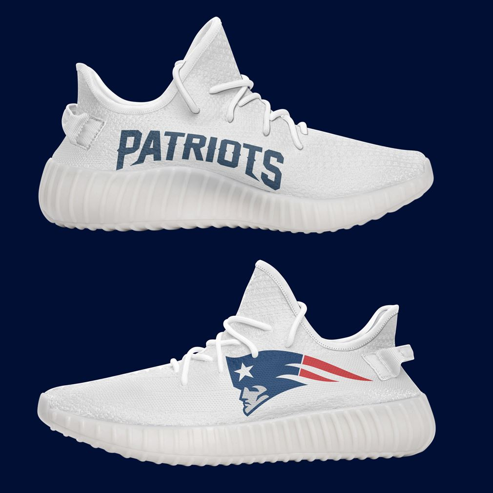 New England Patriots Nfl Teams Yeezy Sneakers Shoes