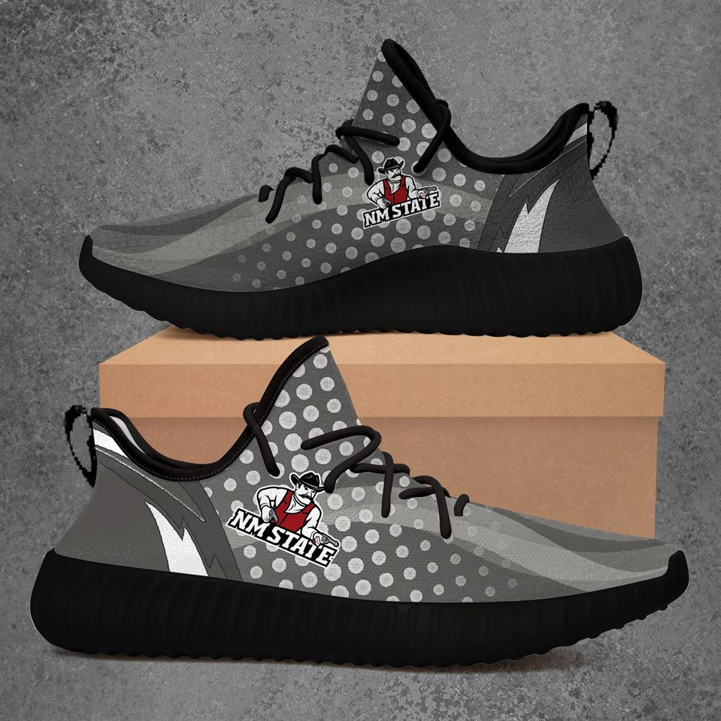 New Mexico State Aggies Ncaa Sport Teams Yeezy Sneakers Shoes