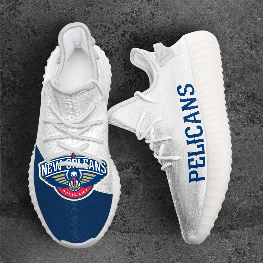 New Orleans Pelicans Mlb Sport Teams Yeezy Sneakers Shoes White